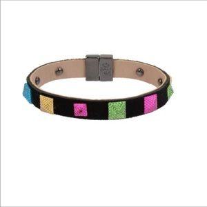 Betsey Johnson Neon Pyramid Bracelet